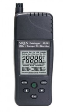 CO2/Temp./RH monitor, modell ST 501