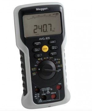 ENERGIMONTØR MULTIMETER AVO®835 - digitalt TRMS multimeter for proffmarkedet.